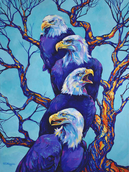 Roost Painting - Eagle Tree by Derrick Higgins