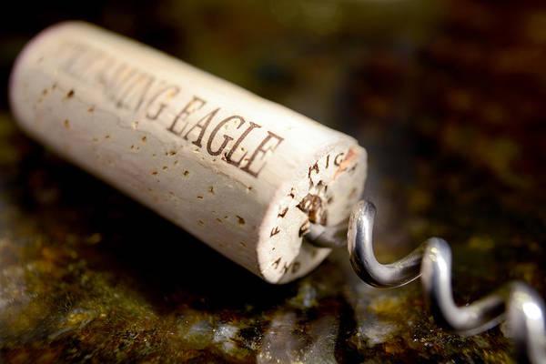 Wine Barrels Photograph - Eagle Uncorked  by Jon Neidert