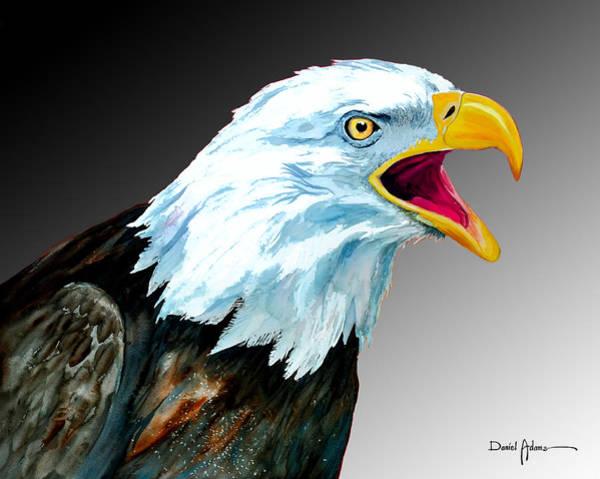 Painting -  Da109 Eagle's Cry By Daniel Adams by Daniel Adams