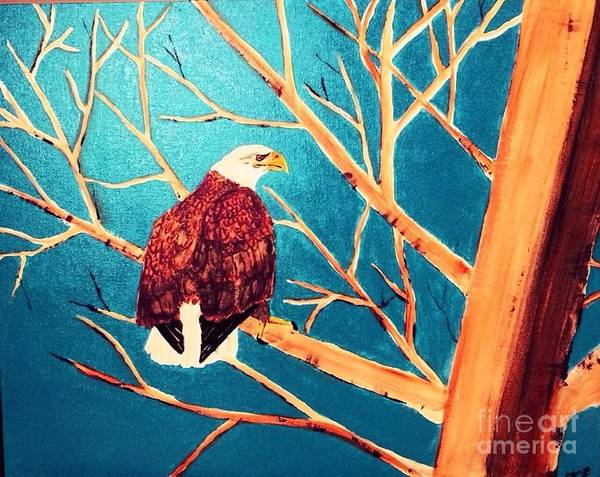 Painting - Eagles Perch by Denise Tomasura