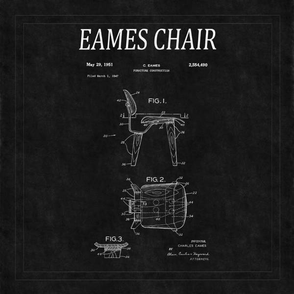 Photograph - Eames Chair Patent 2 by Andrew Fare