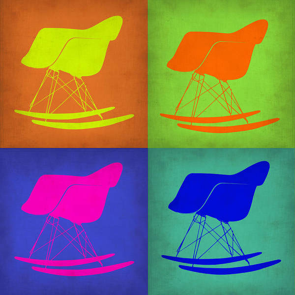Wall Art - Painting - Eames Rocking Chair Pop Art 1 by Naxart Studio