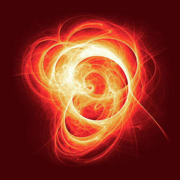 Square Digital Art - Ear Like Swirling Hot Fractal by Mmdi