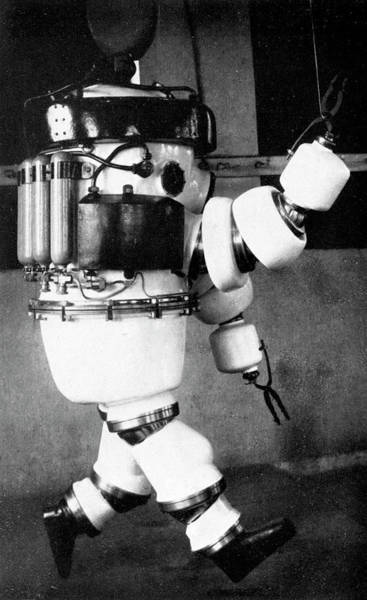Diving Suit Photograph - Early 20th Century Diving Suit by Cci Archives