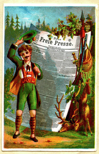 Parody Photograph - Early 20th Century German News Caricature by Collection Abecasis