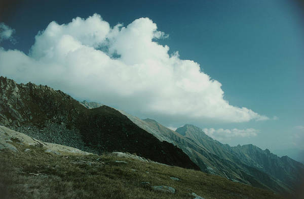 Cumulus Photograph - Early Afternoon Cumulus Cloud Over Mountain Slopes by Steve Percival/science Photo Library