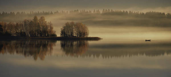 Misty Photograph - Early Autumn Morning by Pekka Ilari T