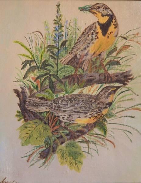 Meadow Lark Painting - Early Bird by Elizabeth Compton