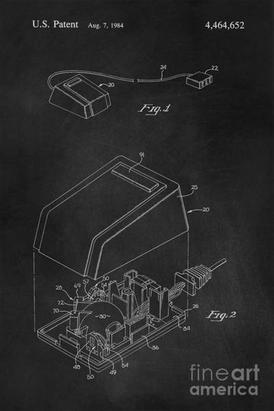 Digital Art - Early Computer Mouse Patent 1984 by Edward Fielding