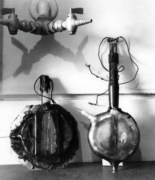 Particle Physics Wall Art - Photograph - Early Cyclotron Equipment by Emilio Segre Visual Archives/american Institute Of Physics/science Photo Library