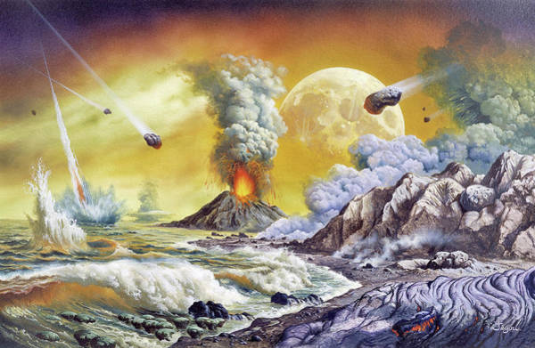 Wall Art - Photograph - Early Earth by Christian Jegou Publiphoto Diffusion/ Science Photo Library