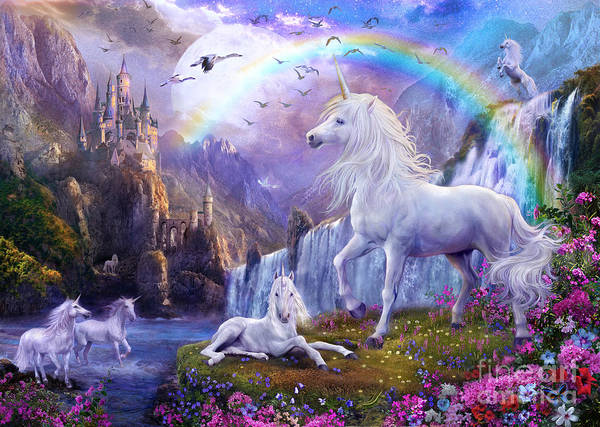 Unicorn Digital Art - Early Evening by MGL Meiklejohn Graphics Licensing