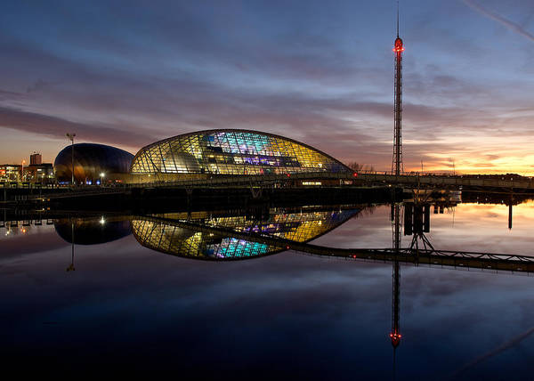 Photograph - Early Evening Reflections Of The Science Centre by Stephen Taylor