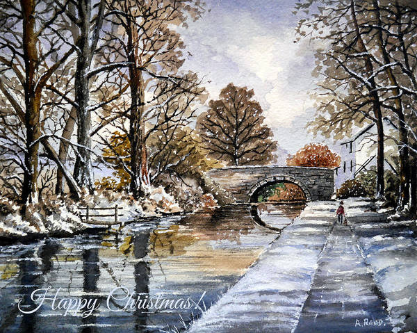 Wall Art - Painting - Early Fall At Mortimers Bridge The Mon And Brecon Canal by Andrew Read