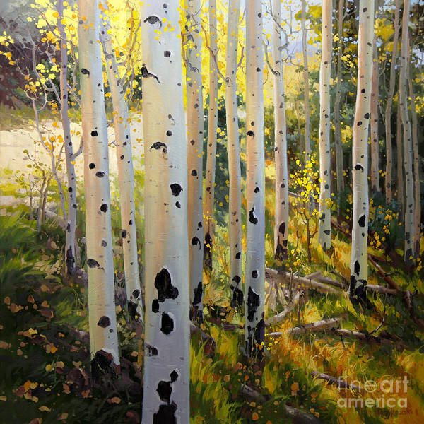 Wall Art - Painting - Early Fall Colors Of Aspen by Gary Kim