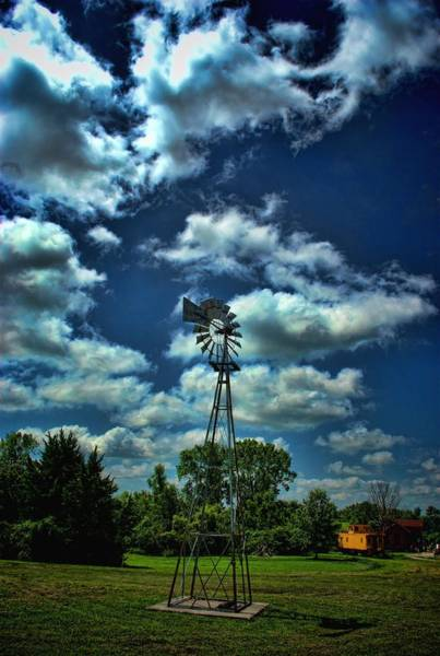 Photograph - Early Farm Wind Mill by Tim McCullough