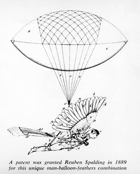 Ballons Photograph - Early Flight Design by Underwood Archives