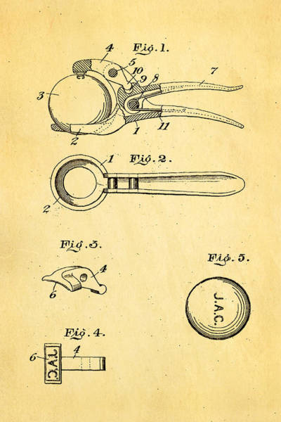 Golf Green Photograph - Early Golf Ball Marker Patent Art 19th Century by Ian Monk