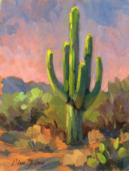 Desert Rose Painting - Early Light by Diane McClary
