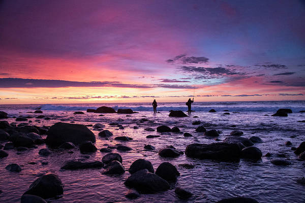 Wall Art - Photograph - Early Morning Anglers Attempt A Good by Robbie George