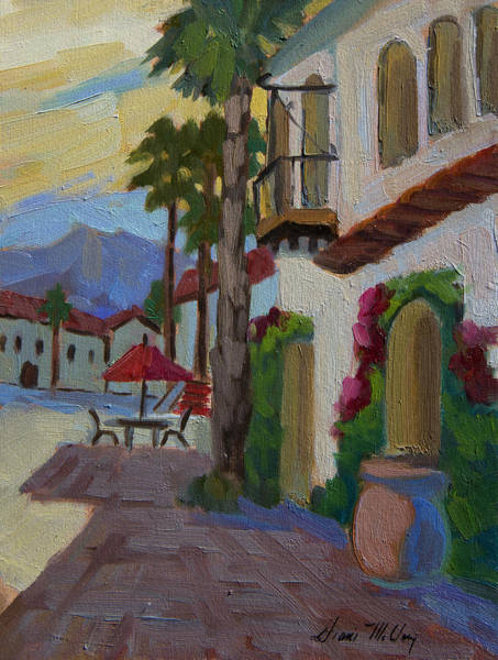 Wall Art - Painting - Early Morning At Old Town La Quinta by Diane McClary