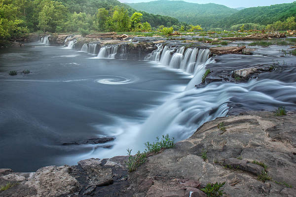 Photograph - Early Morning At Sandstone Falls by Mary Almond
