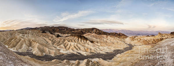 Death Valley Photograph - Early Morning At Zabriskie Point by Colin and Linda McKie