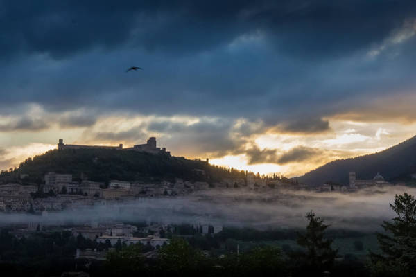 Photograph - Early Morning Clouds Over Assisi by Dwight Theall