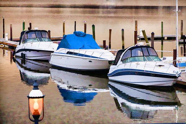 Photograph - Early Morning Docked Boats by Gary Slawsky