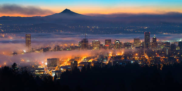 Mt Hood Photograph - Early Morning Fog by Patrick Campbell