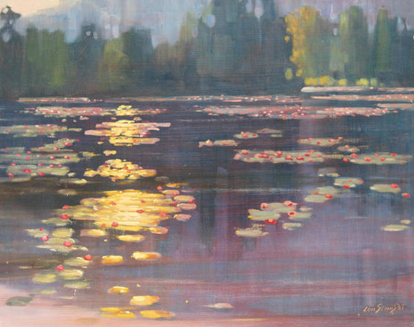 Lilly Pad Wall Art - Painting - Early Morning by Len Stomski