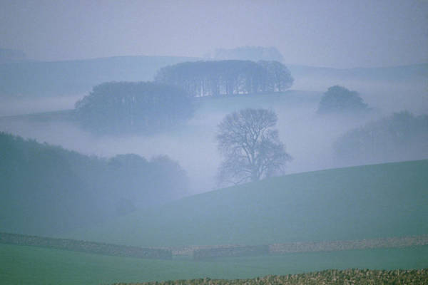 Peak District National Park Photograph - Early Morning Mist by Simon Fraser/science Photo Library