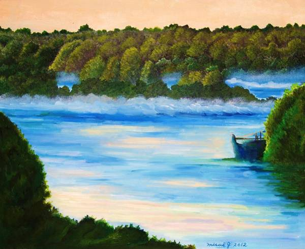 Magnificence Painting - Early Morning On Lake Peipsi  by Misuk Jenkins