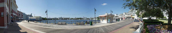 Wall Art - Photograph - Early Morning On The Boardwalk Panorama Walt Disney World by Thomas Woolworth