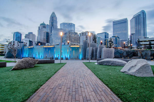 Photograph - Early Morning Over Charlotte Nc Near Romare Bearden Park  by Alex Grichenko