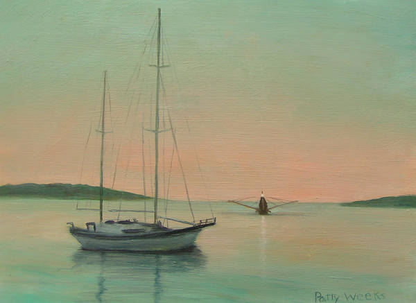 Matanzas Inlet Wall Art - Painting - Early Morning by Patty Weeks