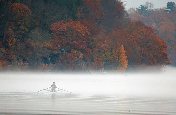 Autumn In New England Photograph - Early Morning Row by Karol Livote