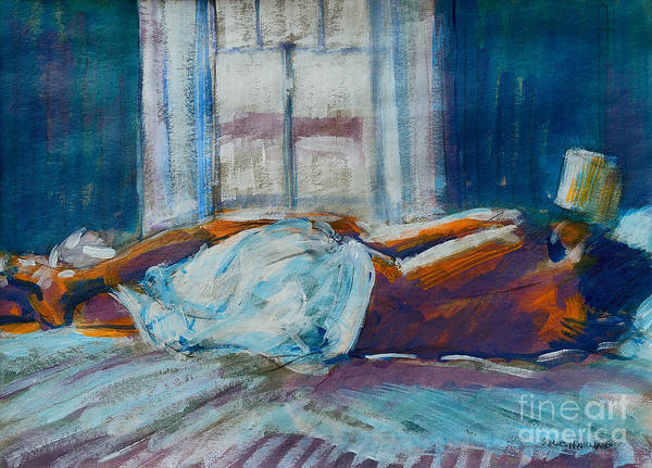 Tender Moment Wall Art - Painting - Early Morning Spooning by Charles M Williams