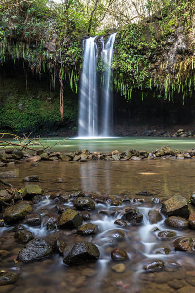 Photograph - Early Morning Sunlight At Twin Falls Maui by Pierre Leclerc Photography