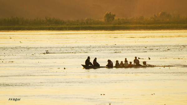 Photograph - Early Morning Traffic On The Amazon by Allen Sheffield