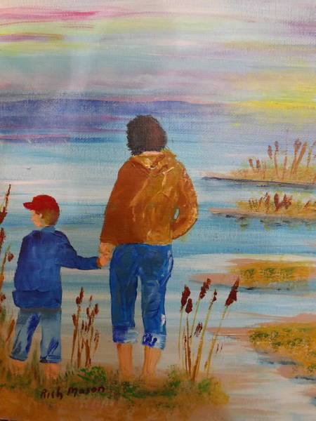 Wall Art - Painting - Early Morning Walk by Rich Mason