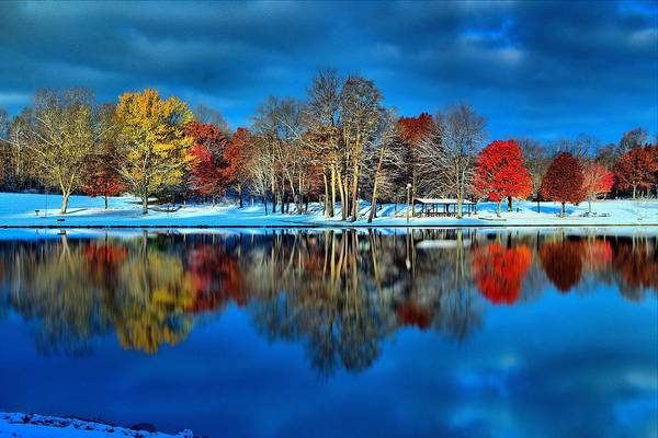 Brian Wilson Wall Art - Photograph - Early Snow At The Lake by Brian Wilson