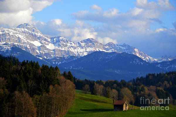 Photograph - Early Snow In The Swiss Mountains by Susanne Van Hulst