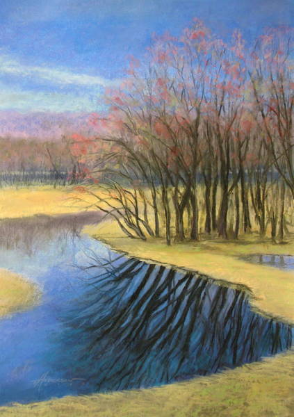 Pastel - Early Spring At Catfish Corner by Sherri Anderson