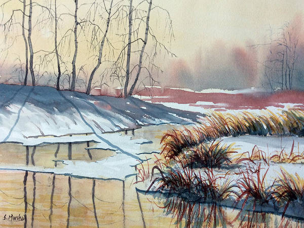 Painting - Early Spring On Strensall Common by Glenn Marshall