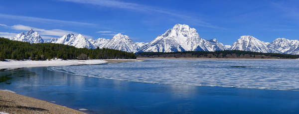 Photograph - Early Spring Teton Panorama by Greg Norrell