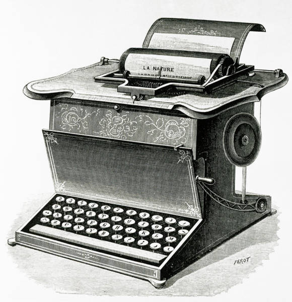 Remington Photograph - Early Typewriter by Science Photo Library