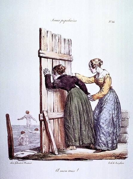 Dress Form Photograph - Early Victorian Peeping Women by Daniel Hagerman