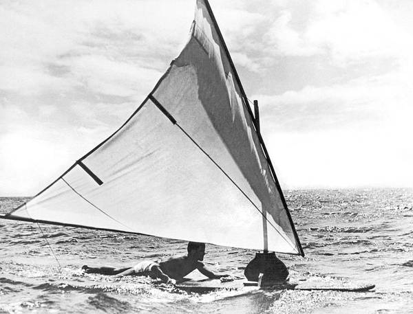 Wall Art - Photograph - Early Windsurfing by Underwood Archives
