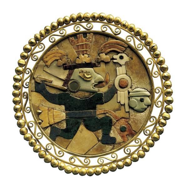 Wall Art - Photograph - Earmuff With Moche Warrior. Gold by Everett